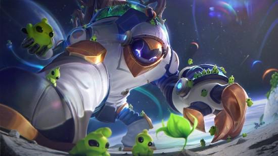 【蜗牛电竞】《英雄联盟》2021宇航员系列皮肤 航天飞机芜湖起飞