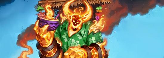 【蜗牛电竞】《炉石传说》火焰节正式开启 传说任务送限定皮肤