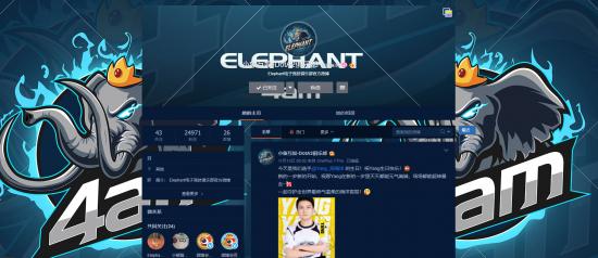 【蜗牛电竞】闹剧终究散场 4AM战队更名为Elephant