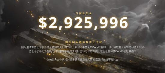《DOTA2》TI10勇士令状现已上线售价70元起