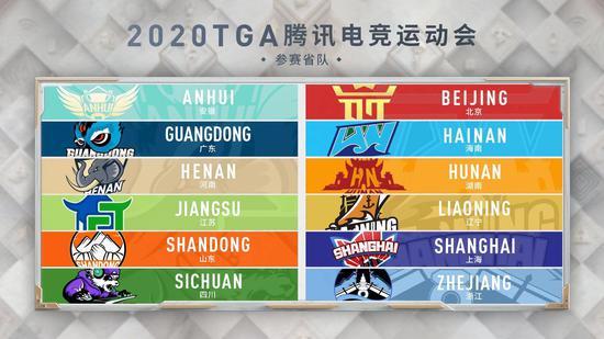 (2020TGA騰訊電競運動會省隊賽模式參賽協會名單)