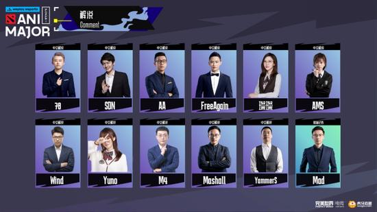 【博狗扑克】DOTA2基辅ANIMAJOR 特锦赛解说名单公布,有你喜欢的中文解说吗?