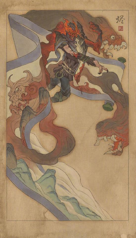 《英雄联盟》山海绘卷皮肤预告 妮寇力战烬与奇兽大军
