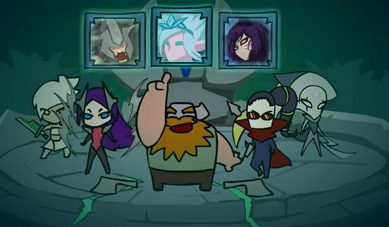 【博狗扑克】《英雄联盟》终极魔典Q版动画 憨憨奥拉夫被四位御姐带飞