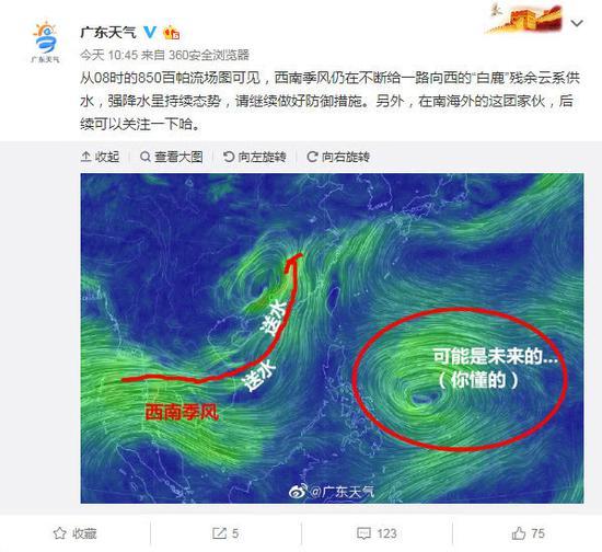廣東將重回高溫 新臺風將生成或在本周末影響廣州