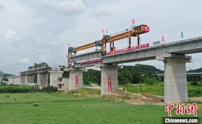 突破多个关键节点 广州南沙港铁路施工建设加速推进