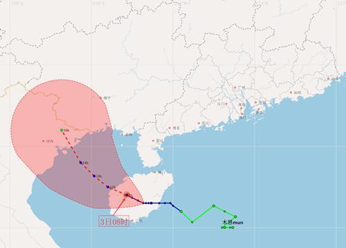 """""""木恩""""已半夜登陸海南省 對廣東仍有氣象災害影響"""