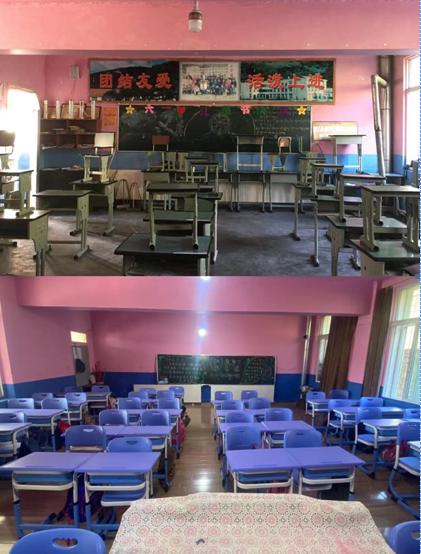 学校教室对比图