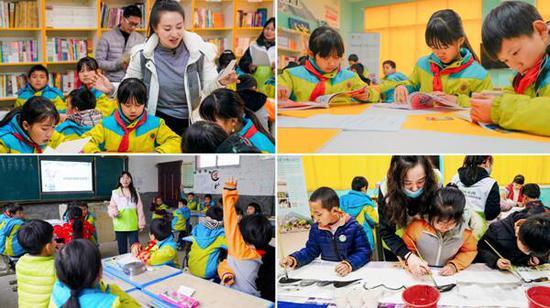 社会各方力量为孩子们带来阅读、环保、绘画等多主题微课堂
