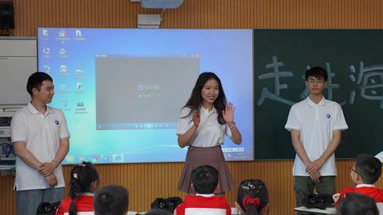 北大潜协陈钊铭、张维一和冉欣怡同学分享自己的潜水经历