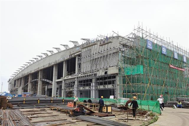 武漢第四火車站站房主體工程基本建成 沖刺年底通車