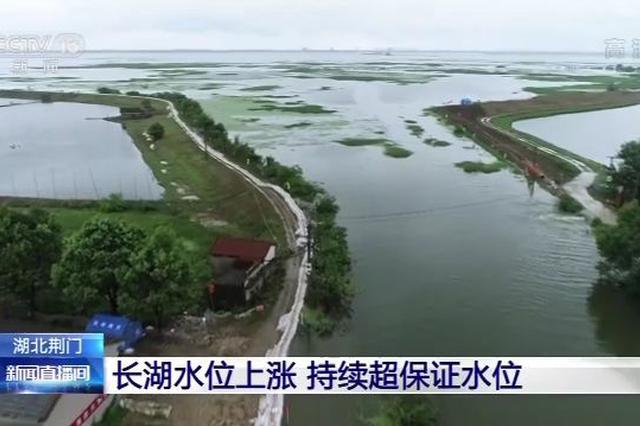 湖北第3大湖長湖水位持續上漲 已高出歷史最高11厘米