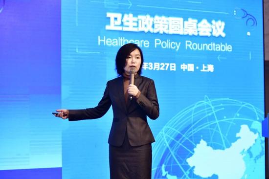 ▲上海创奇健康发展研究院品牌总监薛梅