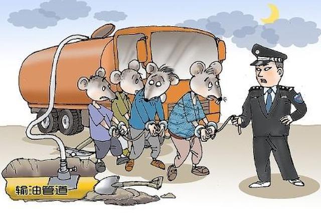饶阳县偷油按键_一团伙钻孔盗窃原油50余吨 警方奋战大半年破案_新浪河北_新浪网