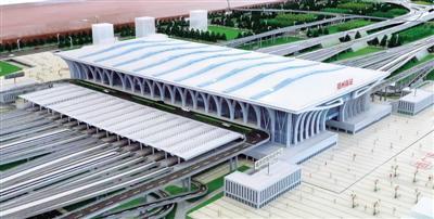 鄭州南站站房主體結構全面施工 預計2022年開通運營