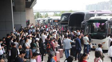 郑州公路客运迎来高峰