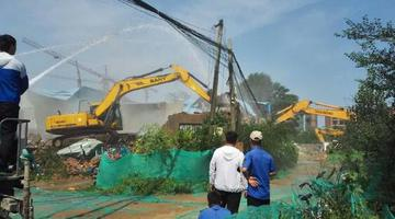 开封16000余平方米违法建设被拆除