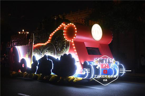"""哈尔滨市总工会花车尽显""""工人力量"""""""