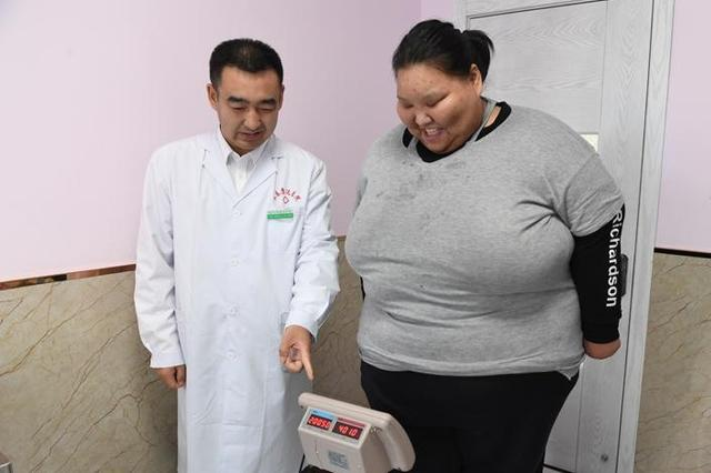 95后女孩体重400斤腰围达5尺5 减肥欲突破自己
