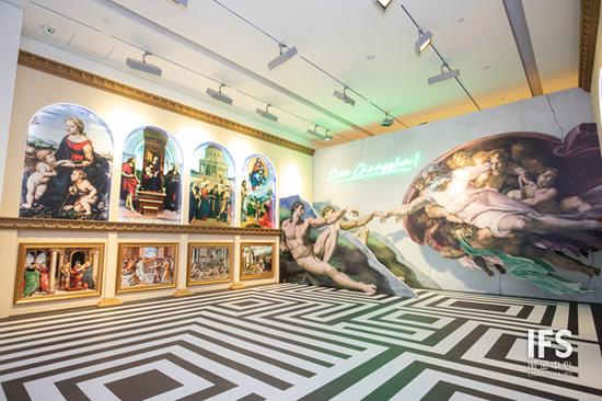 (图:长沙IFS L7艺术廊,文艺复兴巨匠艺术沉浸式体验展览)