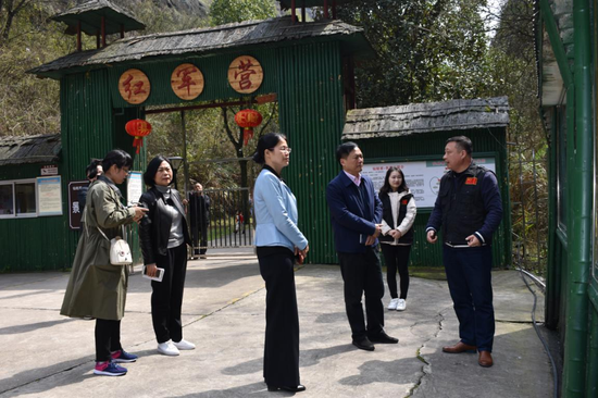 2019年3月省旅游文化厅禹新荣书记到红军营开展调研