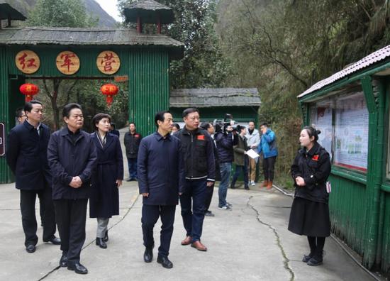 2019年2月 许达哲书记率队到红军营调研