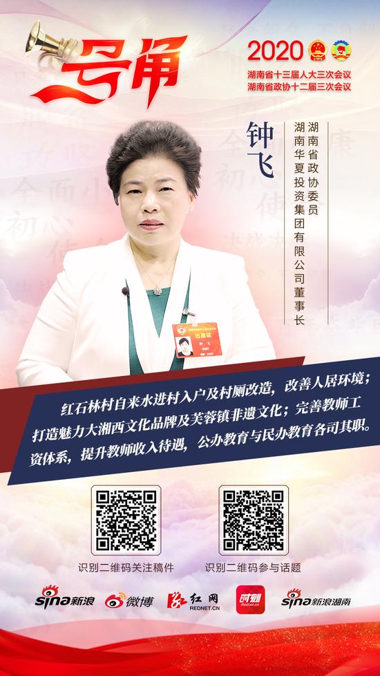 湖南省政协委员、湖南华夏投资集团有限公司董事长钟飞