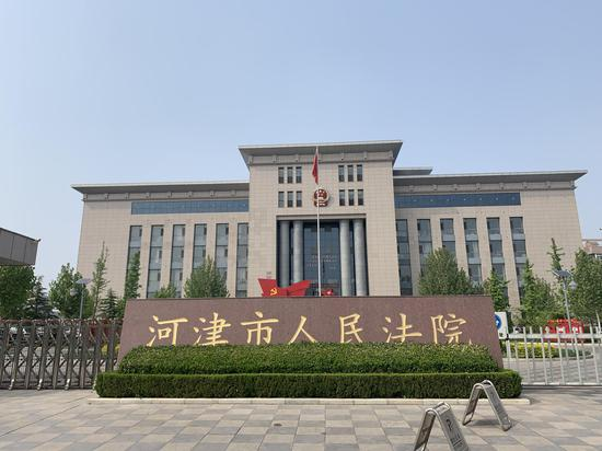河津市人民法院,王淑珍曾多次在此代理案件。受访者供图