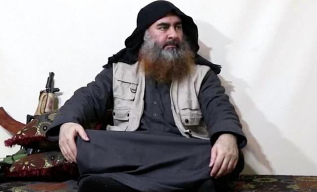 """资料图:""""伊斯兰国""""(IS)头目巴格达迪。"""