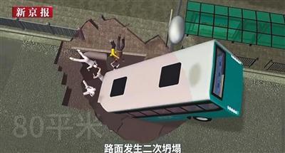 动画还原1月13日下午西宁市路面塌陷,公交车坠坑事件。据悉,路人施救时发生二次塌陷,多人掉入坑中。截至14日22时10分,事故已致9人遇难,仍有1人失联。