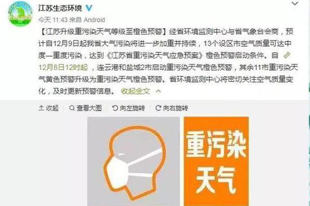 未来3天江苏晴暖升温最高17℃!然而讨厌的它又来了