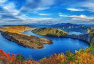 雄丽壮阔的鸭绿江太极湾