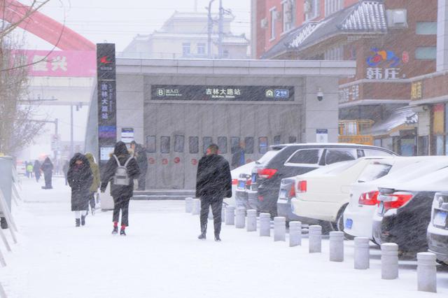 长春市迎来2018年岁末的最大一场雪