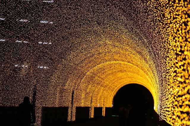 夜空中最亮的星 打卡通化市网红大桥