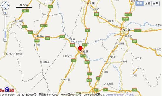 2017年12月23日 10时55分13秒,吉林省松原市宁江区(北纬45.