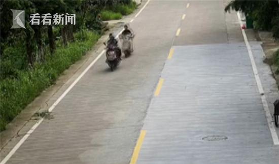 女子骑车玩手机追尾:翻滚一周继续看手机