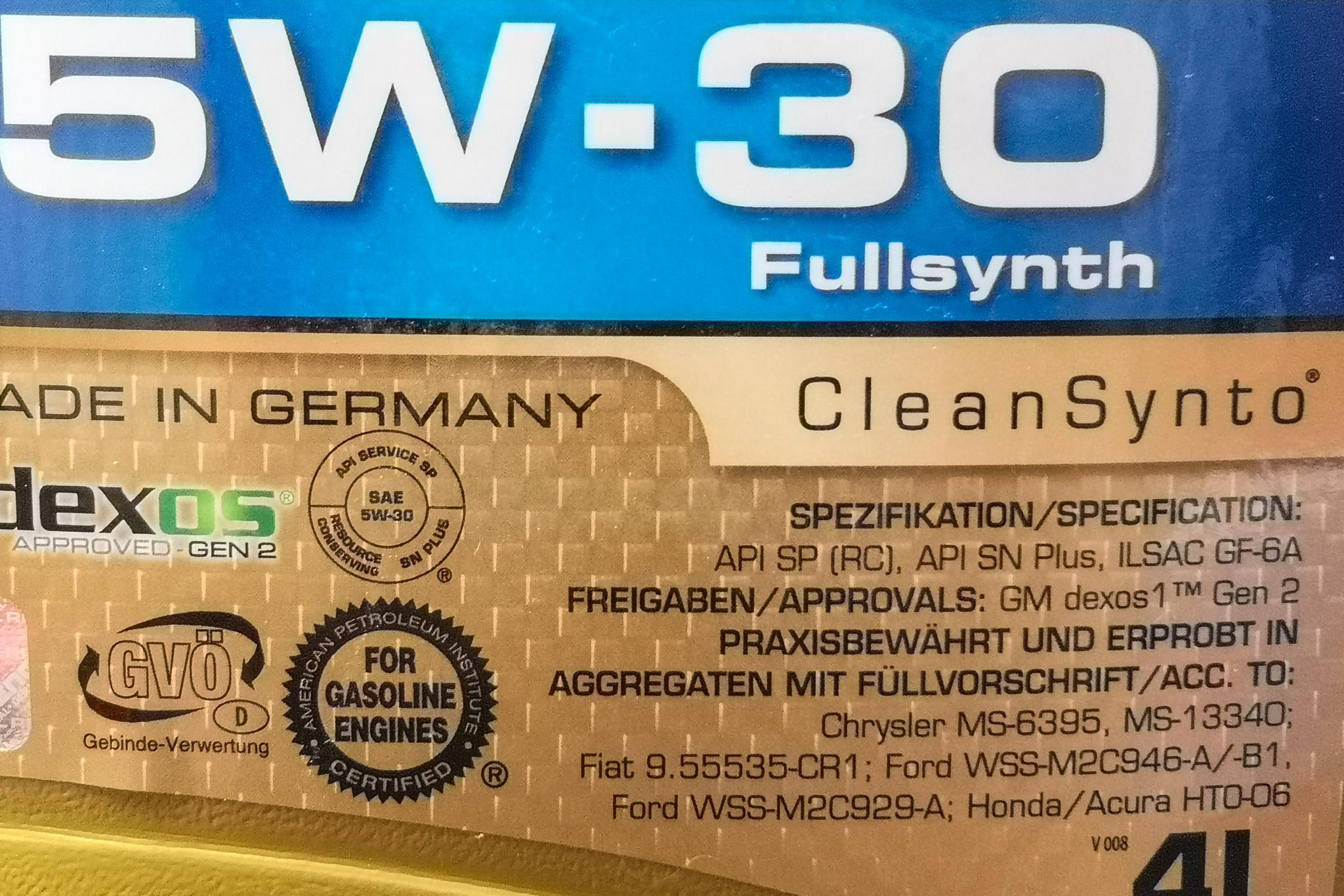 API SP标准的低粘度机油