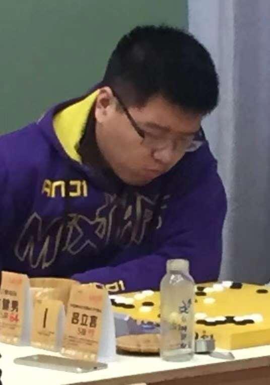 赵健男在比赛中