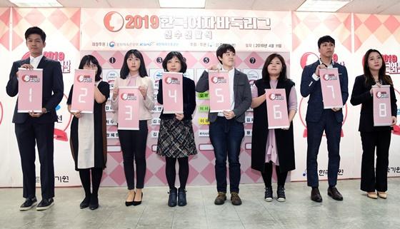 2020韩国女子围甲联赛赛前抽签仪式
