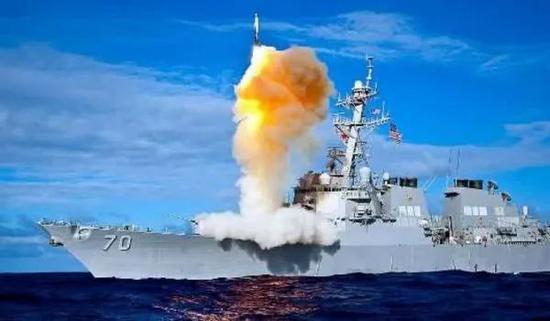 ▲美海军驱逐舰装备的反导系统
