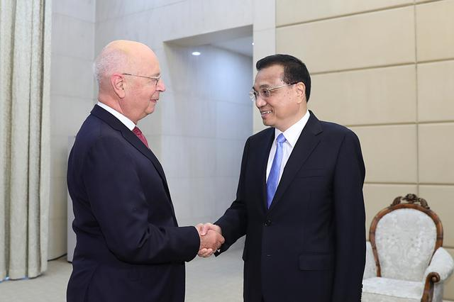 李克强会见世界经济论坛主席施瓦布