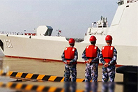 052D太原舰应邀参加日本阅舰式