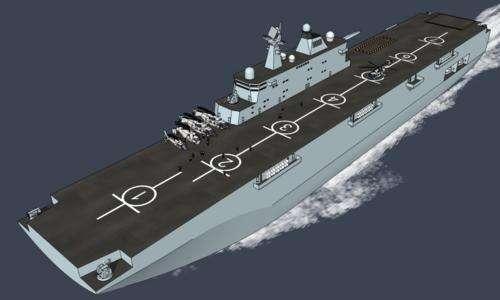 中国075型两栖抨击舰想象图