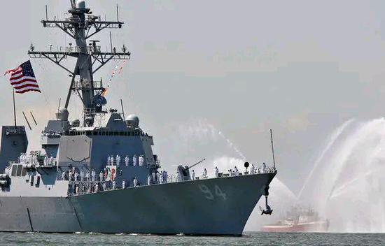 美军驱逐舰由南向北通过台湾海峡 台军方称全程掌握