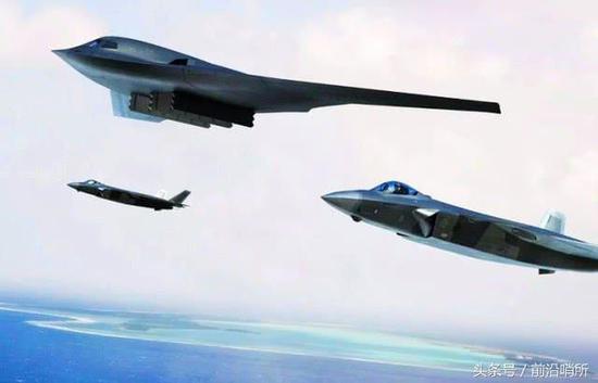 网友绘制的轰-20和歼-20编队CG图