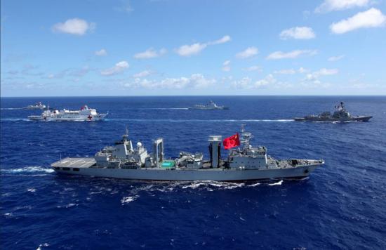 [中国海军参加了RIMPAC 2014和2016年的演习]