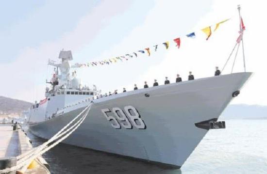日照舰来自北海舰队