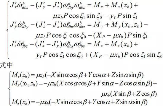 该飞碟的动力学方程(图源:《一类新型飞行器复合控制研究》)