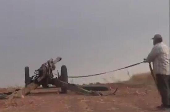 二战德军105毫米榴弹炮叙利亚再上阵