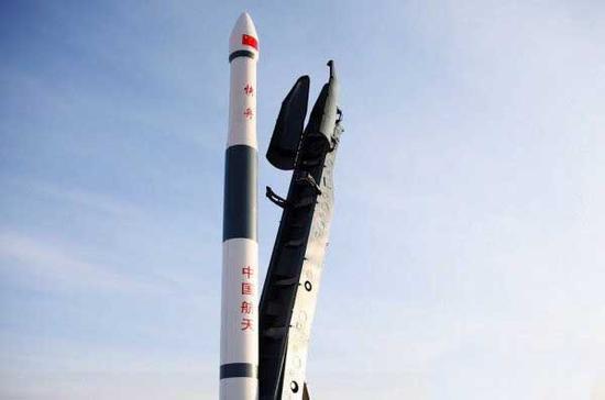 """资料图:中国研制的""""快舟""""系列火箭"""